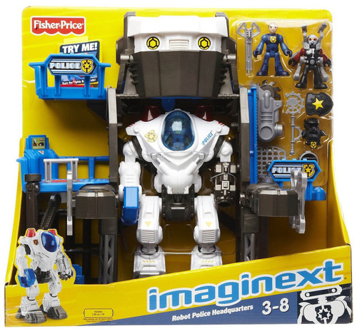 Fisher Price Imaginext Robot Police Headquarters Exclusive Playset
