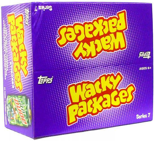 Wacky Packages Series 7 Trading Card Sticker Box