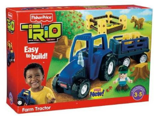 Fisher Price TRIO Farm Tractor Playset