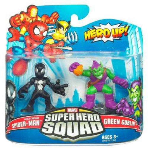 Marvel Super Hero Squad Series 20 Black Costume Spider-Man & Green Goblin Action Figure 2-Pack