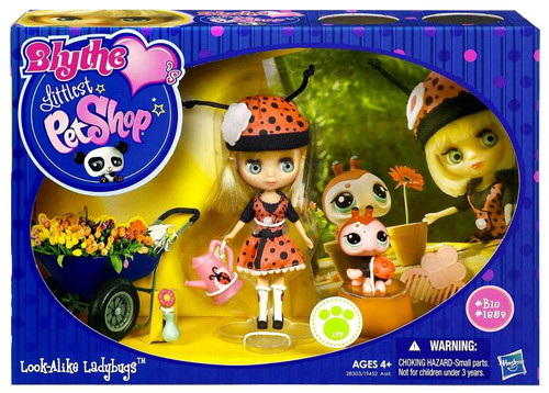 Littlest Pet Shop Blythe Loves Blythe's Sitters Look-Alike Ladybugs Figure Set B10, 1959