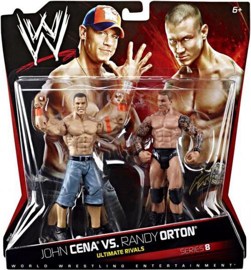 WWE Wrestling Series 8 Randy Orton vs. John Cena Action Figure 2-Pack