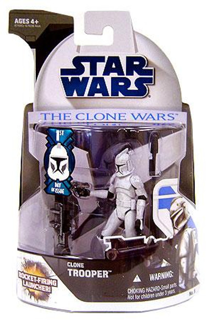 Star Wars The Clone Wars Clone Wars 2008 Clone Trooper Action Figure #5 [First Day of Issue]
