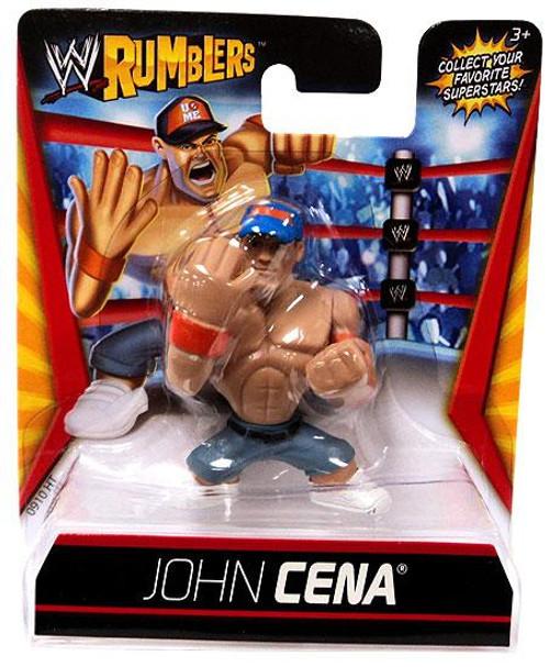 WWE Wrestling Rumblers Series 1 John Cena Mini Figure [Blue Hat]