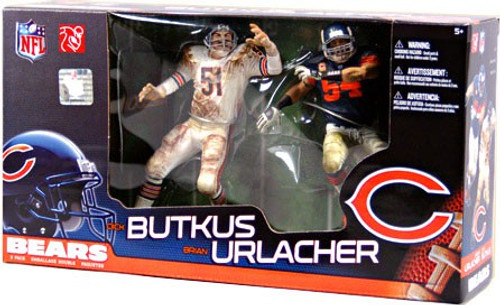 McFarlane Toys NFL Chicago Bears Sports Picks 2-Packs Dick Butkus & Brian Urlacher Action Figure 2-Pack