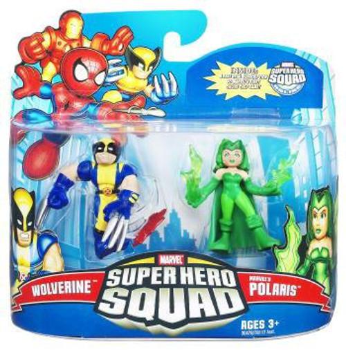 Super Hero Squad Series 21 Wolverine & Marvel's Polaris Action Figure 2-Pack