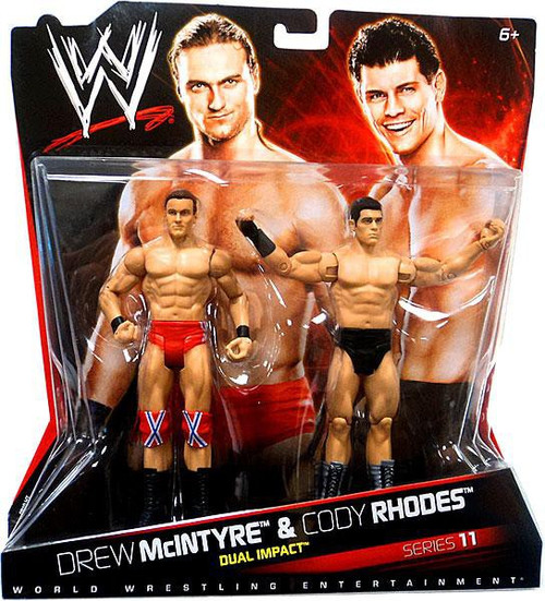 WWE Wrestling Series 11 Drew McIntyre & Cody Rhodes Action Figure 2-Pack