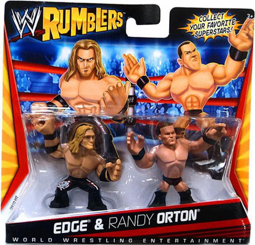 WWE Wrestling Rumblers Series 1 Edge & Randy Orton Mini Figure 2-Pack