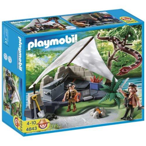Playmobil Treasure Hunters Treasure Hunters Camp with Giant Snake Set #4843