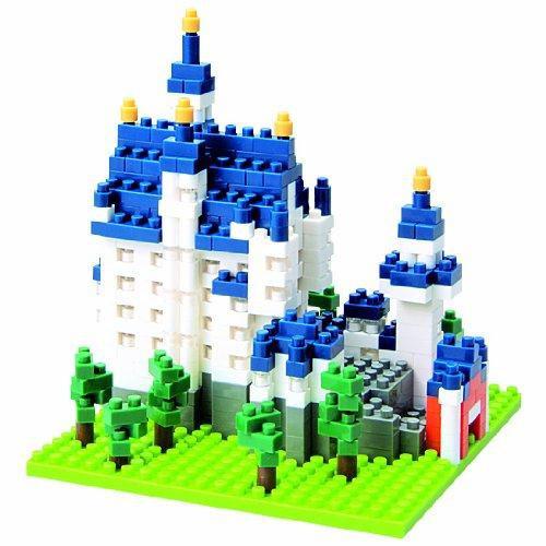 Nanoblock Micro-Sized Building Block Neuschwanstein Castle Figure Set