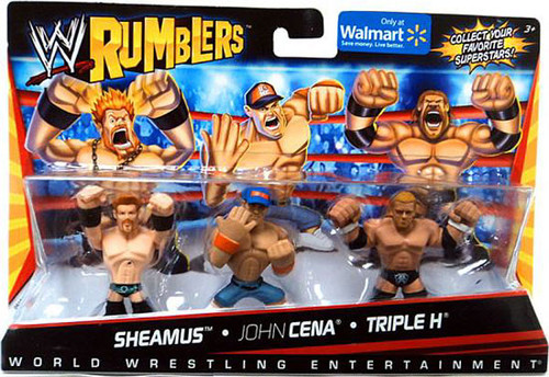 WWE Wrestling Rumblers Series 1 Sheamus, John Cena & Triple H Exclusive Mini Figure 3-Pack