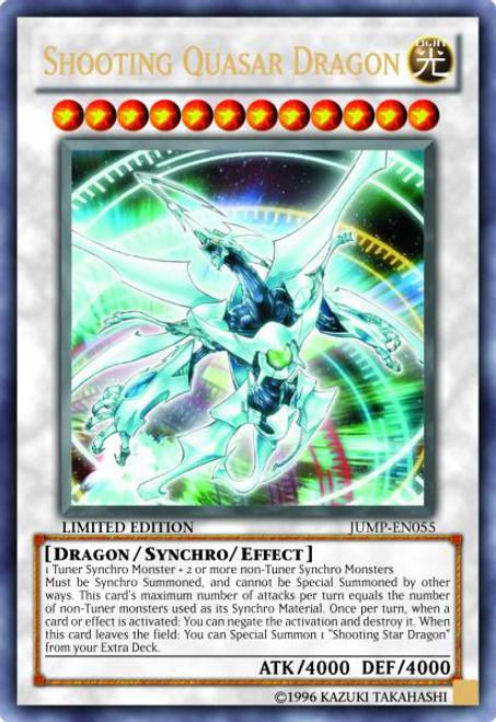 YuGiOh Shonen Jump Ultra Rare Shooting Quasar Dragon JUMP-EN055
