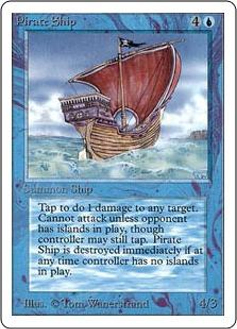 MtG Unlimited Rare Pirate Ship