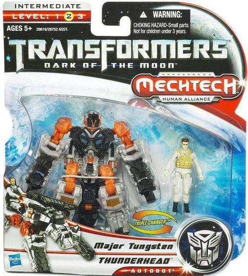 Transformers Dark of the Moon Mechtech Thunderhead with Major Tungsten Action Figure Set