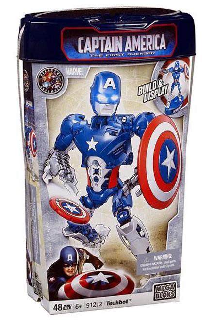 Mega Bloks The First Avenger Build & Display Captain America Techbot Set #91212