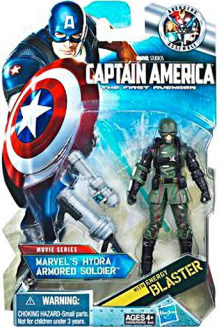 Captain America The First Avenger Movie Series Marvel's Hydra Armored Soldier Action Figure #12 [Black Gloves]