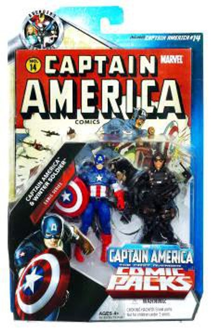 Marvel Universe Marvel's Greatest Battles Comic Packs Captain America & Winter Soldier Exclusive Action Figure 2-Pack