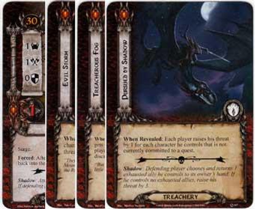 The Lord of the Rings The Card Game Lord of the Rings LCG Saurons Reach Encounter Set [10 cards]