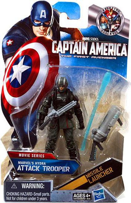 Captain America The First Avenger Movie Series Marvel's Hydra's Attack Trooper Action Figure #15 [Black Gloves]