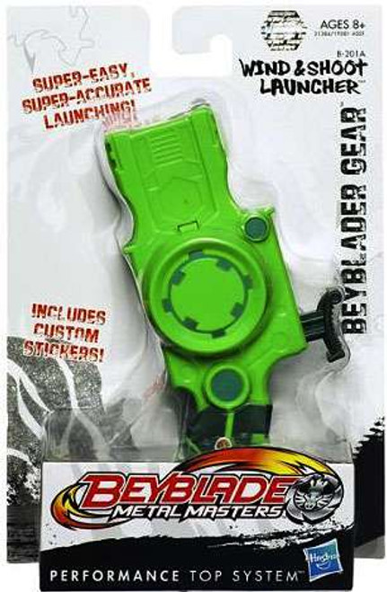 Metal Masters Beyblade Gear Wind & Shoot Launcher B-201A [Green]