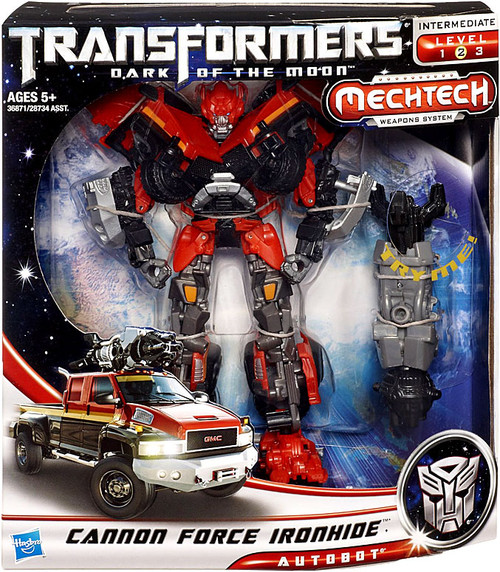 Transformers Dark of the Moon Mechtech Voyager Cannon Force Ironhide Voyager Action Figure