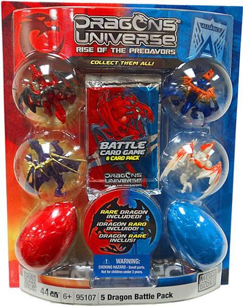 Mega Bloks Dragons Universe Rise of the Predavors 5 Dragon Battle Pack Set #95107