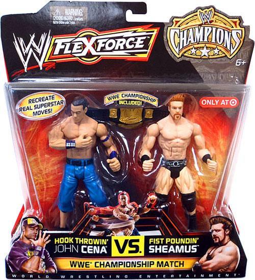 WWE Wrestling FlexForce Champions Hook Throwin' John Cena Vs. Fist Poundin' Sheamus Exclusive Action Figure 2-Pack