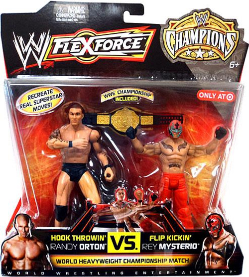 WWE Wrestling FlexForce Champions Hook Throwin' Randy Orton VS. Flip Kickin' Rey Mysterio Exclusive Action Figure 2-Pack