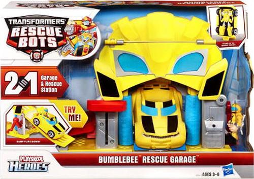 Transformers Rescue Bots Playskool Heroes Bumblebee Rescue Garage
