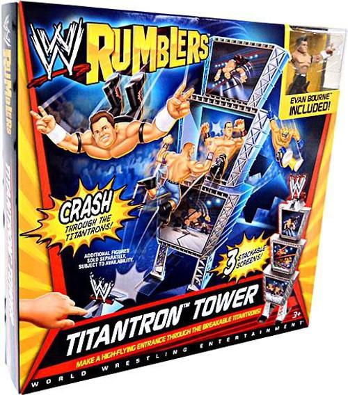 WWE Wrestling Rumblers Series 1 Titantron Tower Mini Figure Playset