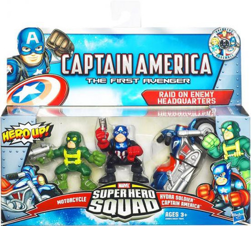 Captain America The First Avenger Superhero Squad Raid on Enemy Headquarters Action Figure 3-Pack