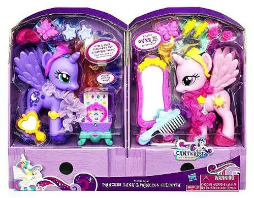 My Little Pony Canterlot Fashion Style Princess Luna & Princess Celestia Exclusive 6-Inch Figure 2-Pack