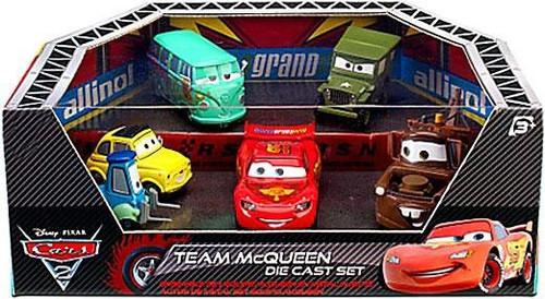 Disney Cars Cars 2 Playsets Team McQueen Exclusive Diecast Car Set