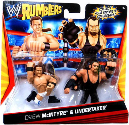 WWE Wrestling Rumblers Series 1 Drew McIntyre & Undertaker Mini Figure 2-Pack
