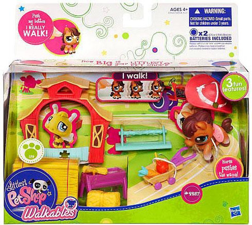 Littlest Pet Shop Walkables Horse Playset #2257 [Wagon]