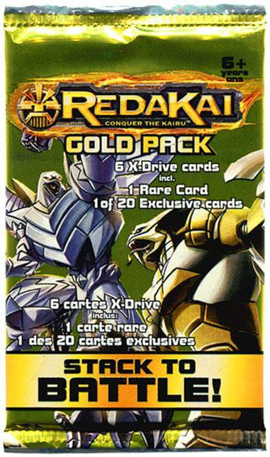Redakai Conquer the Kairu MetaCharged Gold Booster Pack [Hobby Edition]