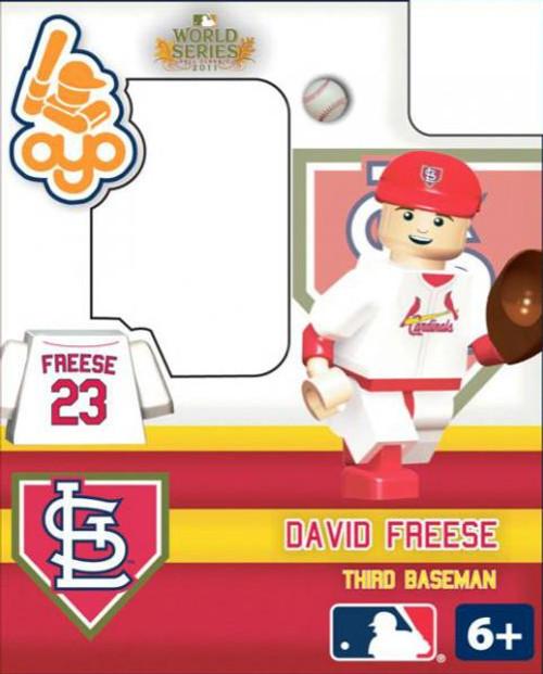 St. Louis Cardinals MLB 2011 World Series David Freese Minifigure
