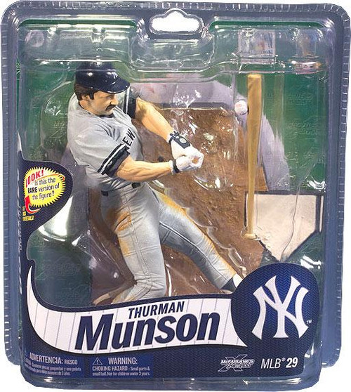 McFarlane Toys MLB New York Yankees Sports Picks Series 29 Thurman Munson Action Figure [Gray Jersey]