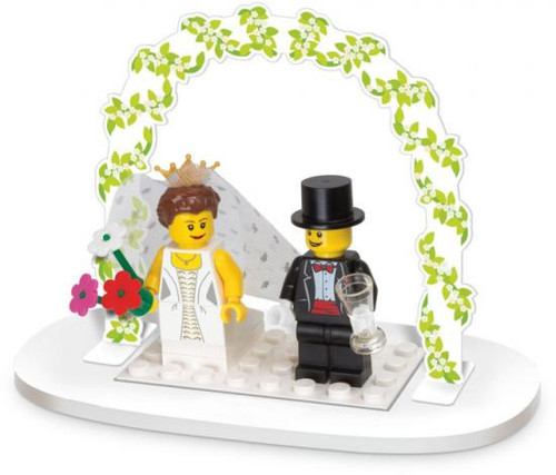 LEGO Wedding Bride & Groom Table Decoration Set #853340