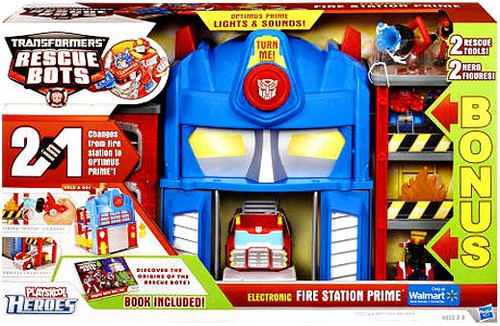 Transformers Rescue Bots Playskool Heroes Fire Station Prime [With Bonus Figures]
