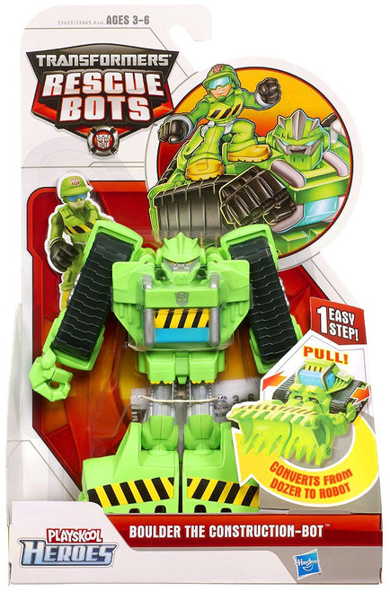 Transformers Rescue Bots Playskool Heroes Boulder The Construction Bot Action Figure