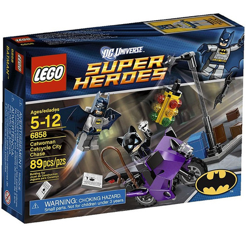 LEGO DC Universe Super Heroes Catwoman Catcycle City Chase Set #6858