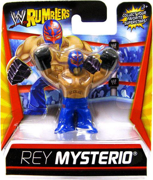 WWE Wrestling Rumblers Series 1 Rey Mysterio Mini Figure [Blue Outfit]