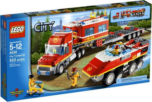 LEGO City Fire Transporter Exclusive Set #4430