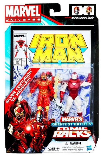 Marvel Universe Marvel's Greatest Battles Comic Packs Silver Centurion Vs. Mandarin Action Figure 2-Pack