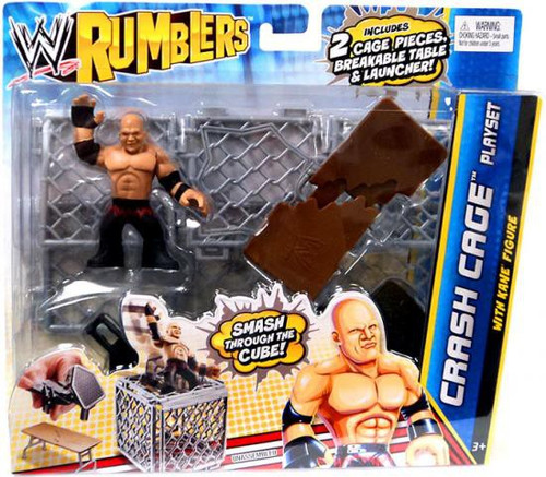 WWE Wrestling Rumblers Series 2 Crash Cage Mini Figure Playset [WIth Kane]