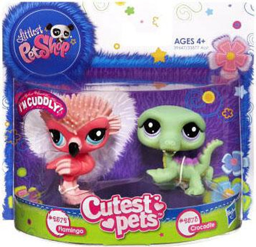 Littlest Pet Shop Cutest Pets Flamingo & Crocodile Figure 2-Pack #2572, 2573