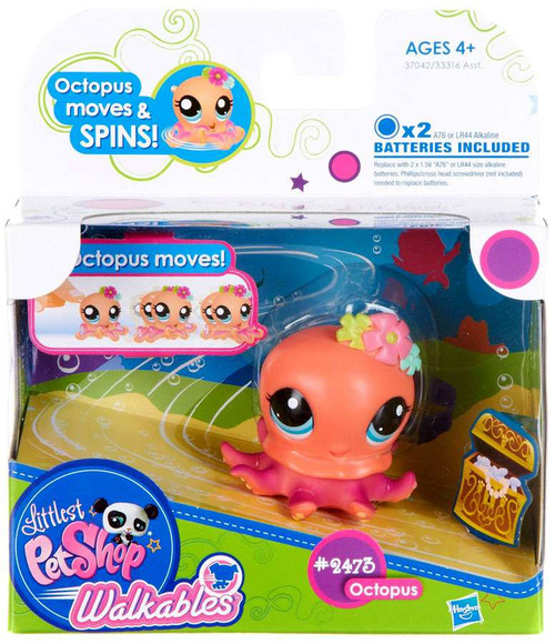 Littlest Pet Shop Walkables Octopus Figure #2473