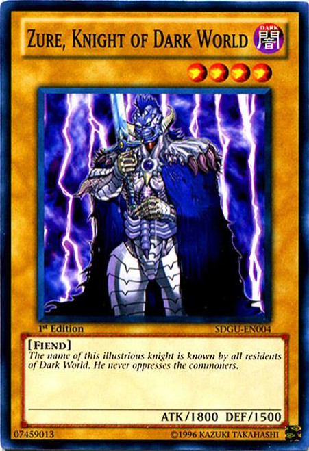 YuGiOh 5D's Structure Deck: Gates of the Underworld Common Zure, Knight of Dark World SDGU-EN004