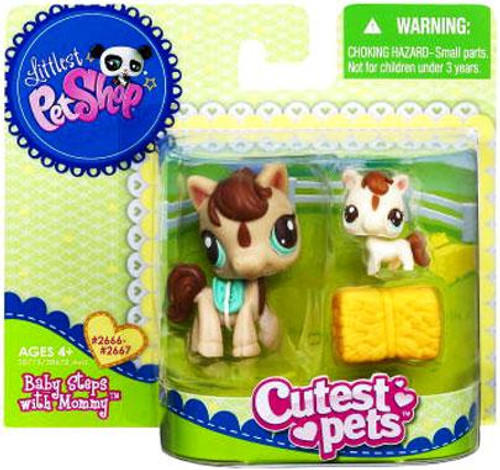 Littlest Pet Shop Cutest Pets Mommy & Baby Baby Steps with Mommy Figure 2-Pack #2666, 2667 [Horses]